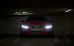 Picture audi, red, front
