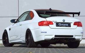 Picture white, wall, BMW, BMW, wall, white, g-power, e92