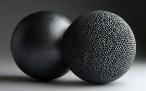 Wallpaper balls, black