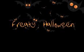 Wallpaper background, black, Halloween, Halloween, mouse