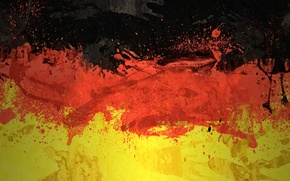 Picture color, paint, Germany, flag, flag, german, The Flag Of The Federal Republic Of Germany