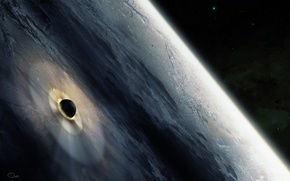 Picture surface, the explosion, planet, blow, meteorite