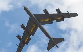 Picture strategic, B-52H, bombardirovshik, heavy, flight, STRATO fortress