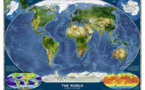 Picture the ocean, the world, map, continents, geography, the world. satellite map