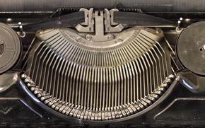 Picture retro, mechanism, keys, machine, vintage, retro, vintage, old, printed, old, typewriter