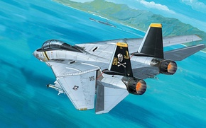 Wallpaper jet, fighter-bomber, Tomcat, F-14, the fourth generation, double, interceptor, Grumman Aircraft Engineering Corporation, variable geometry ...