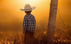 Picture dawn, hat, boy, child
