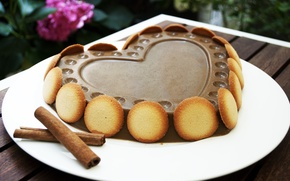 Picture love, holiday, heart, food, chocolate, cake, love, cake, cake, flower, dessert, heart, food, sweet, chocolate, ...