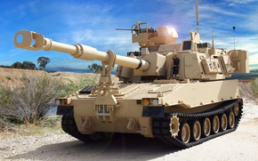 "Picture self-propelled, ""Paladin"", M109A6, howitzer, American"