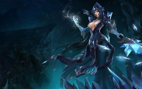 Picture chest, girl, MAG, hon, Heroes of Newerth, Ellonia, Black Ice Ellonia