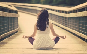 Picture girl, calm, meditation