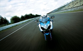 Wallpaper road, road, speed, Moto, helmet, driver, bike
