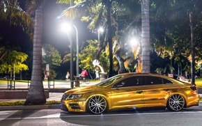 Picture volkswagen, gold, gold, tuning, Volkswagen, passat, Passat