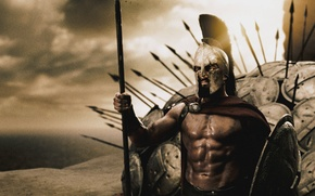 Wallpaper king, shields, Sparta, spears, 300, Leonid, Spartans