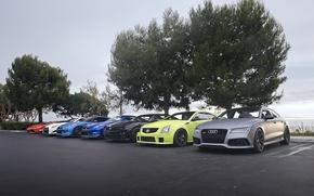 Picture Audi, Cadillac, Lamborghini, Chevrolet, GTR, Camaro, Nissan, Gallardo, Aventador, Super, Road, RS7, Trophy, CTSV