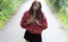 Picture skirt, neckline, coat, Imogen