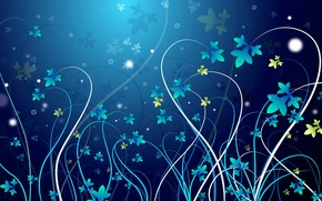 Picture flowers, pattern, vector