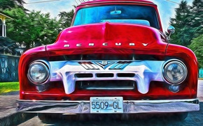 Picture retro, classic, the front, Mercury