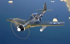 "Wallpaper ""Happy Jacks Go Buggy"", P-51D Mustang, North American"