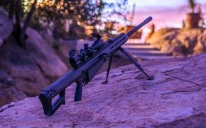 Picture rifle, sniper, self-loading, heavy, Barrett M82