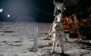 Picture The moon, usa, astronaut, nasa