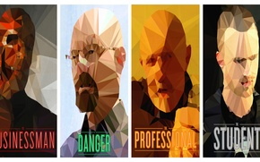 Picture abstraction, the series, poster, characters, Breaking Bad, breaking bad