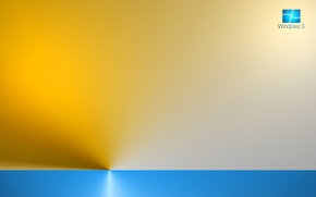 Picture computer, rays, color, texture, logo, horizon, emblem, windows, operating system