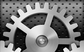 Picture texture, silver, gear