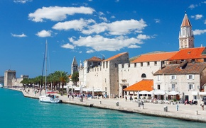 Picture sea, Croatia, old town, Jadran, Trogir