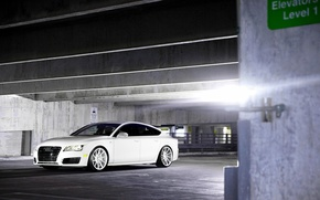 Picture Audi, white, wheels, vossen, frontside