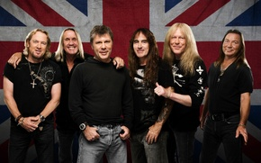 Picture flag, metal, iron maiden