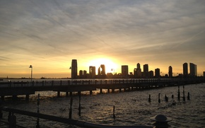Picture the city, USA, Hudson Park, Jercey City from NYC