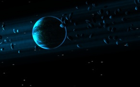 Picture blue, planet, Sci Fi