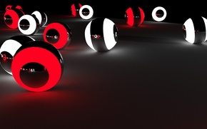 Picture Balls, beautiful, red, black