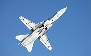 Picture su-24, bottom view, bomber, the Russian air force