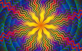 Picture rays, pattern, paint, color, symmetry