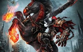 Picture death, sword, Darksiders: Wrath of War, rider