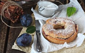 Picture pie, cinnamon, plum, cakes