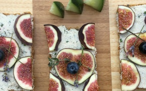 Picture food, blueberries, sandwiches, figs