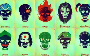 Picture Harley, Will Smith, DC Comics, Deadshot, Captain, Jai Courtney, Killer, Rick, Cara Delevingne, Joel Kinnaman, …