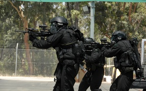Wallpaper special forces, mask, vests, machines