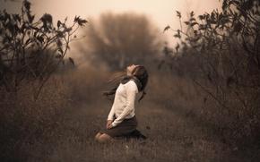 Picture nature, girl, bokeh