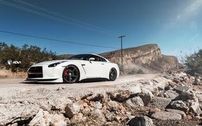 Picture landscape, mountains, nature, car, nissan, Kar, Vegas GTR 2