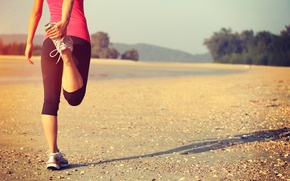Picture workout, running shoes, jogging, outdoor activity