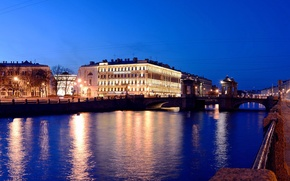 Picture lights, the evening, Russia, Peter, Saint Petersburg, St. Petersburg