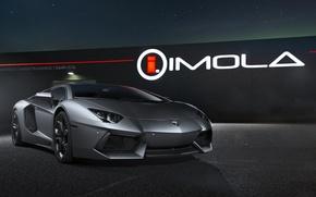 Picture The sky, Lamborghini, Stars, Lamborghini, Supercar, Grey, LP700-4, Aventador, Aventador