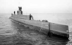 Wallpaper WWII, photo, war, submarine, black and white