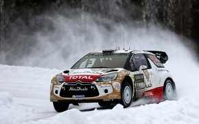 Picture Citroen, Sweden, DS3, WRC, Rally, Meeke