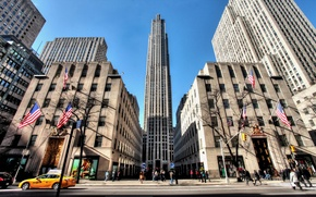 Picture new York, NYC, new york, usa, Rockefeller Center, 5th Avenue