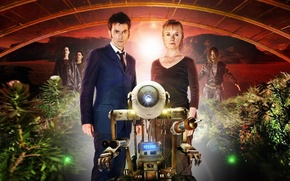 Picture woman, planet, robot, plants, Mars, costume, male, Doctor Who, Doctor Who, science fiction, David Tennant, …